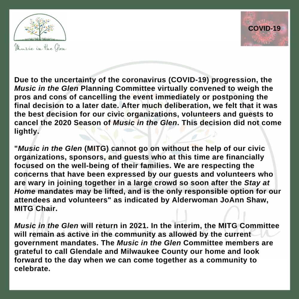 MITG COVID19 ANNOUNCEMENT 2020